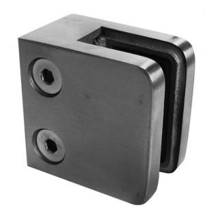 Uchwyt do szkła model 21 wym 45x45 mocowanie do profila płaskiego