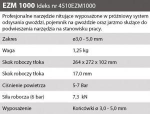 OPIS NITOWNICA NIT PNEU EZM 1000 3,0 - 5,0