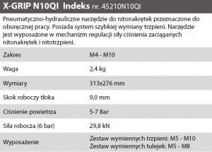OPIS NITOWNICA NITONAK. PNEU X-GRIP N10QI M4-M10